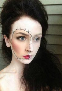 makeup spasmeni koukla
