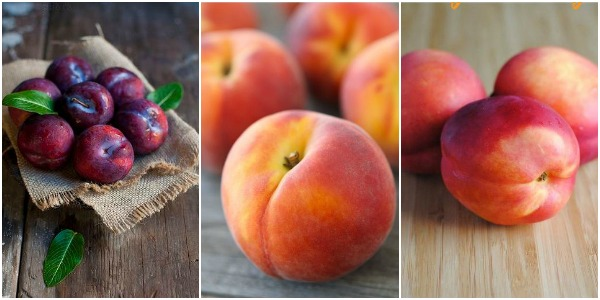 nectarine, peaches & plum