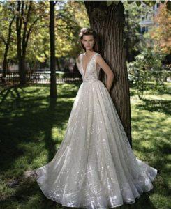 plunging wedding dress
