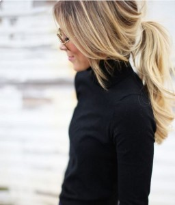 ponytail with framing