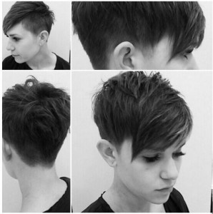 shaved short pixie