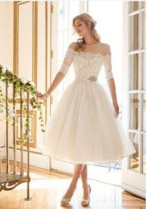 short wedding dress