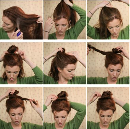 steps for undone bun