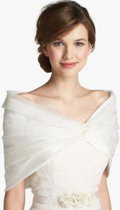 stole for wedding dress