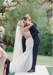 veil in outdoor wedding