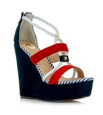 black and red wedges