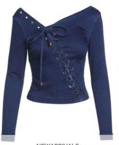 blue denim blouse