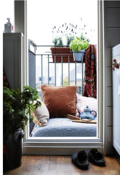 cushion on balcony
