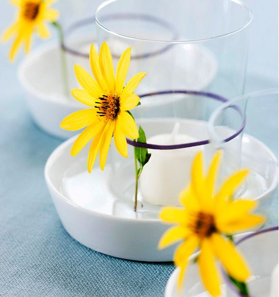 daisy candleholders