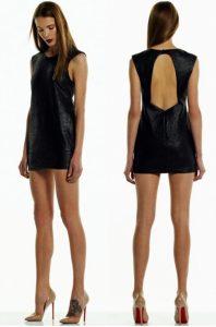78108aa2554a Τι πιο sexy από ένα mini δερμάτινο φόρεμα  Το να είναι και εξώπλατο! Εμείς  το ερωτευτήκαμε