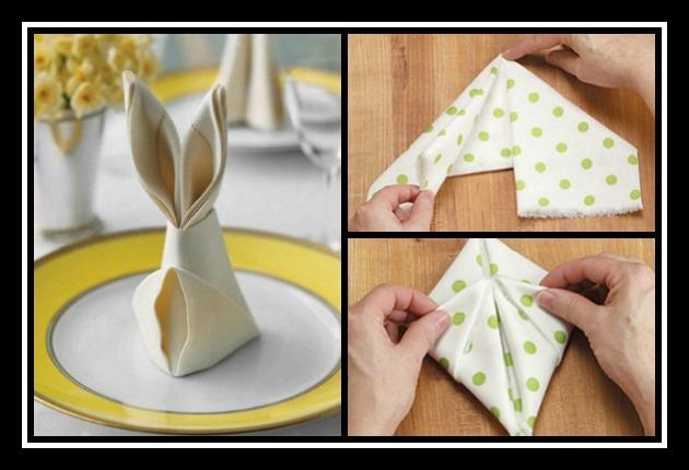 Πως να διπλώσεις τις πετσέτες για το πασχαλινό τραπέζι!