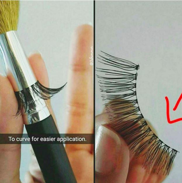 false eyelashes application