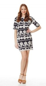 floral black and white dress raxevsky