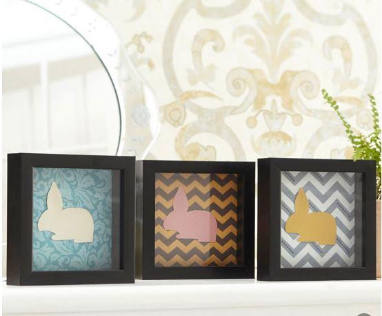 framed paper easter bunnies