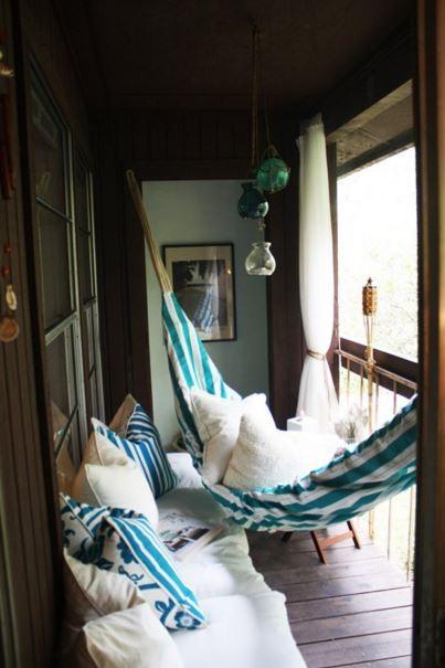hammock on balcony