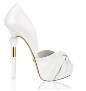 high heel white