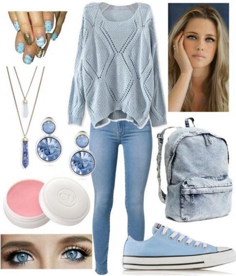 5fbc4d72ab10 18 Outfits για την Άνοιξη σε ροζ και γαλάζιο χρώμα!