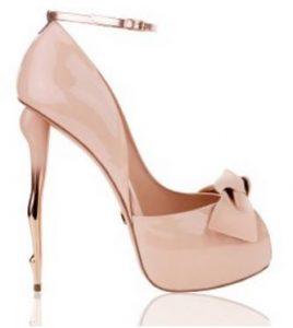 nude high heeled