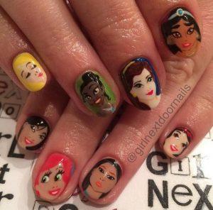 prigkipisses disney nail art