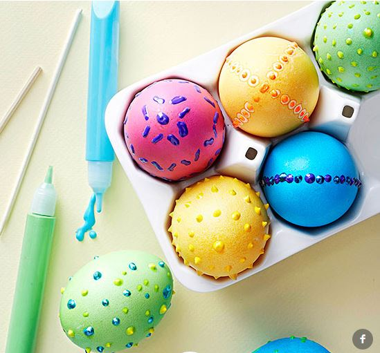 puffy paint eggs
