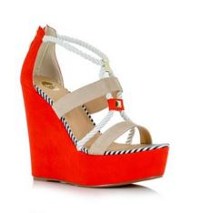 red and white wedges