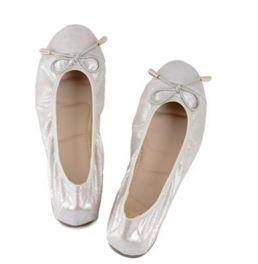 silver balerinas