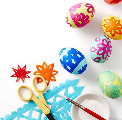tissue paper eggs
