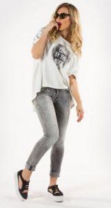 white assymetric blouse