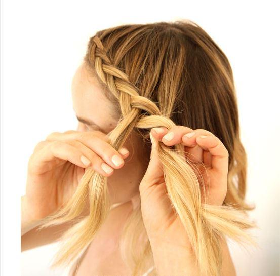 Dutch braid - step 2