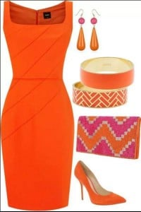 bright colour outfit
