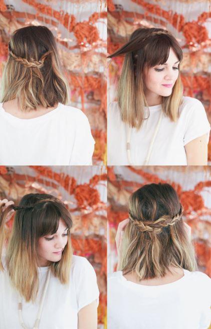 half-up braided crown step 5-8