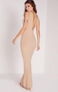 low back maxi dress