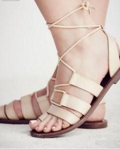 tie-up sandals