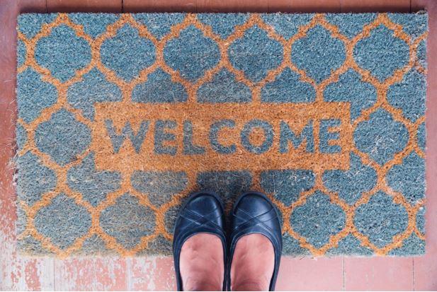 welcoming doormat