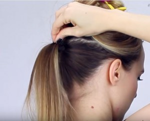 adding volume to ponytail