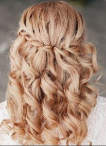braided hairstyle bride