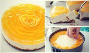 Πως να φτιάξεις cheesecake ροδάκινο σε σχήμα τριαντάφυλλο!