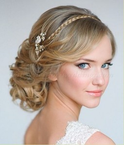 chignon with small braid