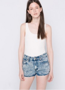 denim shorts pull and bear 2016