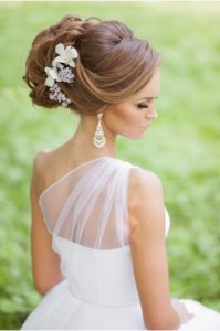 elegant updo for brides