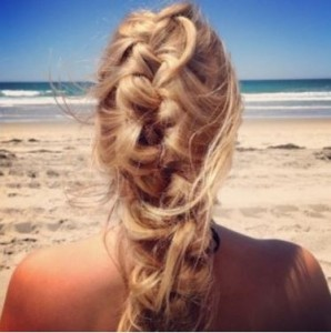 french braid for the beach