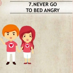 going to bed angry