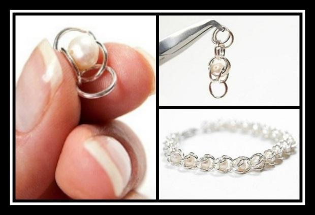 Χειροποίητα κοσμήματα: Φτιάξε βραχιόλι αλυσίδα με πέρλες!