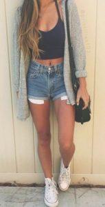 jean shorts ntisimo
