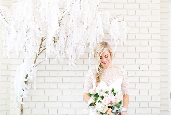 paper wisteria backdrop