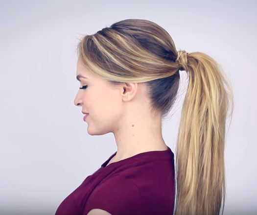 quick ponytail