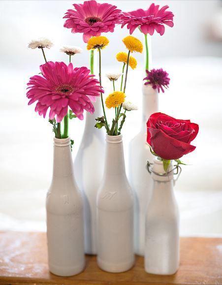 spray-painted vase