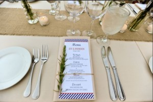 sprig on wedding menus