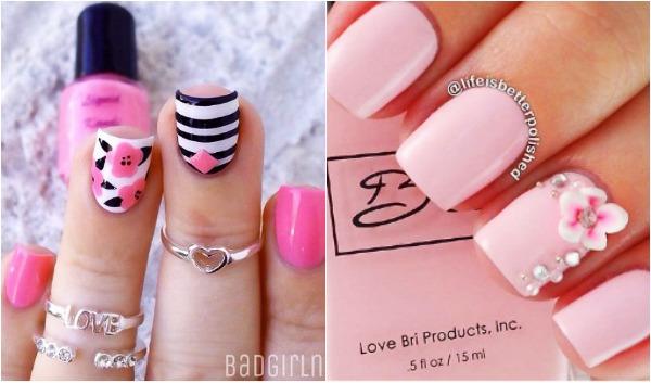 34 Ρομαντικά ροζ σχέδια νυχιών!