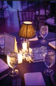 table lamp wedding